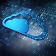 Cloud technology concept: Blue Cloud on digital background - Stock Photo
