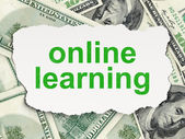 Education concept: Online Learning on Money background — Stock Photo