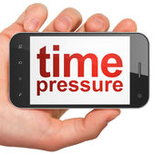 Time concept: Time Pressure on smartphone — Stock Photo