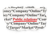 Marketing concept: Public Relations on Paper background — Stock Photo