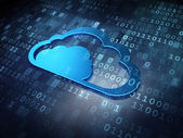 Cloud technology concept: Blue Cloud on digital background — Stockfoto