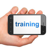 Education concept: Training on smartphone — Stock Photo