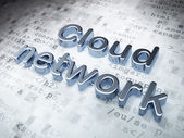Networking concept: Silver Cloud Network on digital background — Stock Photo