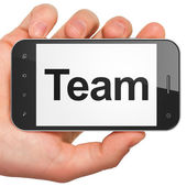 Business concept: Team on smartphone — Stock Photo