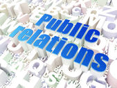 Marketing concept: Public Relations on alphabet background — Stock Photo