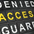 Protection concept: Access on airport board background — Stock Photo #24936563