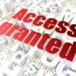 Stock Photo: Protection concept: Access Granted on alphabet background