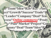 Finance concept: Online Commerce on Money background — Foto de Stock