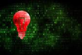 Business concept: Light Bulb on digital background — Stock Photo