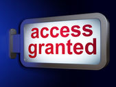 Security concept: Access Granted on billboard background — Stok fotoğraf
