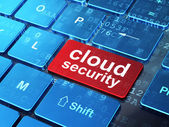 Cloud technology concept: Cloud Security on computer keyboard ba — Stock Photo