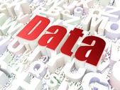 データの概念: アルファベット背景上のデータ — ストック写真