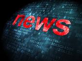 News concept: News on digital background — Stock Photo