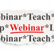 Photo: Education concept: Webinar on Paper background