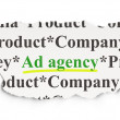 Marketing concept: Ad Agency on Paper background — Stock Photo