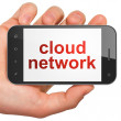 Cloud technology concept: Cloud Network on smartphone — Foto de Stock