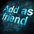 Social media concept: Add as Friend on digital background — 图库照片