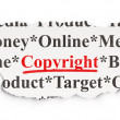 Stok fotoğraf: Advertising concept: Copyright on Paper background