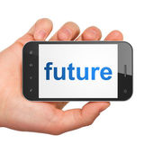 Timeline concept: Future on smartphone — Stock Photo