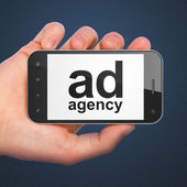 Marketing concept: Ad Agency on smartphone — Stock Photo