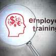 Education concept: Finance Symbol and Employee Training with opt - Stock Photo