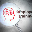 Education concept: Finance Symbol and Employee Training with opt — Stock Photo