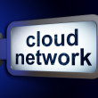 Stock Photo: Cloud technology concept: Cloud Network on billboard background