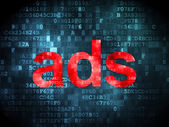 Marketing concept: Ads on digital background — Stock Photo