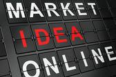 Marketing concept: Idea on airport board background — Stock Photo