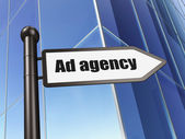 Marketing concept: Ad Agency on Building background — Stock Photo