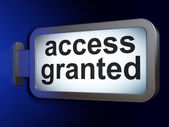 Safety concept: Access Granted on billboard background — Stock Photo