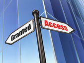 Protection concept: Access Granted on Building background — Stock Photo