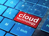 Cloud computing concept: Cloud Technology on computer keyboard b — Stock Photo