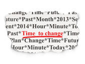 Time concept: Time to Change on Paper background — Stock Photo