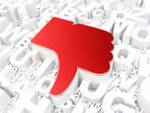 Social media concept: Unlike on alphabet background — Stock Photo