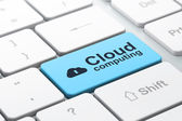 Cloud computing concept: Cloud Whis Keyhole and Cloud Computing — Stock fotografie