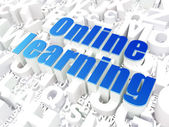 Education concept: Online Learning on alphabet background — Fotografia Stock