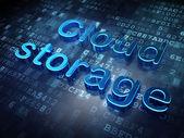 Privacy concept: Blue Cloud Storage on digital background — Zdjęcie stockowe