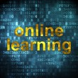 Stok fotoğraf: Education concept: Online Learning on digital background
