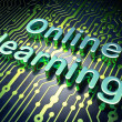 Education concept: Online Learning on circuit board background — Stock Photo #25594027
