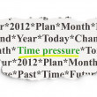 Timeline concept: Time Pressure on Paper background — Stock Photo