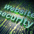 SEO web development concept: Website Security on circuit board b — Stock Photo #25797859