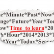 Timeline concept: Time to Learn on Paper background - Stock Photo