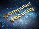 Security concept: Golden Computer Security on digital background — Stockfoto