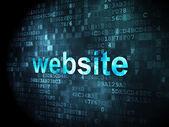 SEO web development concept: Website on digital background — Zdjęcie stockowe