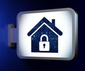 Safety concept: Home on billboard background — Stock Photo