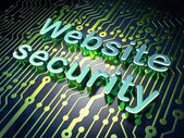 SEO web development concept: Website Security on circuit board b — Stockfoto