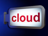 Cloud computing concept: Cloud on billboard background — Stock Photo