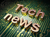 News concept: Tech News on circuit board background — Stock Photo