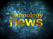 News concept: Technology News on digital background — Stock Photo